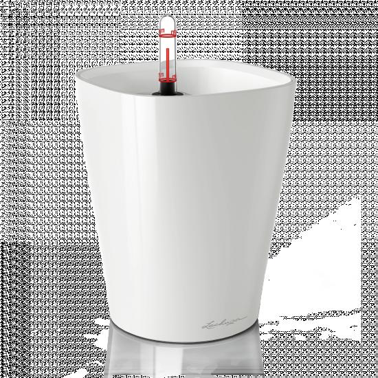 Stolní květináč DELTINI komplet set bílý-3089