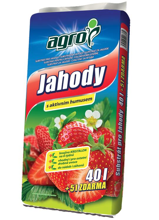Substrát Agro pro JAHODY s aktivním humusem, balení 40 l + 5 l zdarma