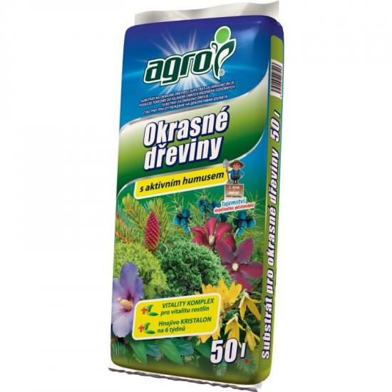 Substrát Agro pro OKRASNÉ DŘEVINY s aktivním humusem, balení 50 l-1788