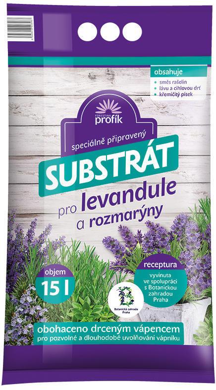 Substrát pro levandule a rozmarýn, Forestina PROFÍK, balení 15 l-1800
