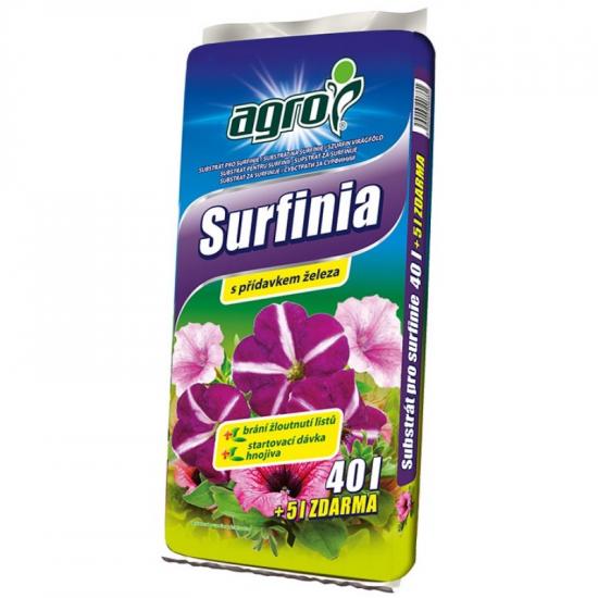 Substrát pro surfinie, Agro SURFINIA, balení 40 l + 5 l zdarma-1794