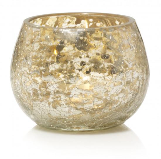 Svícen na votivní svíčku, Yankee Candle Kensington Crackle Glass-281