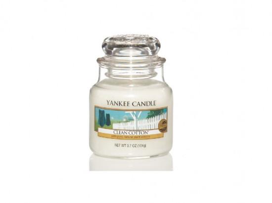 Svíčka Yankee Candle CLEAN COTTON classic malý-3374