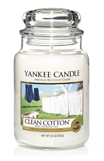 Svíčka Yankee Candle CLEAN COTTON classic velký-1088