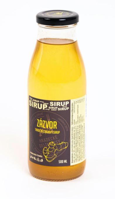 Tradiční bylinný sirup, Hradecké delikatesy Zázvor, 500 ml