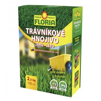 Trávníkové hnojivo na jaro a léto, Floria, balení 2.5 kg-3209