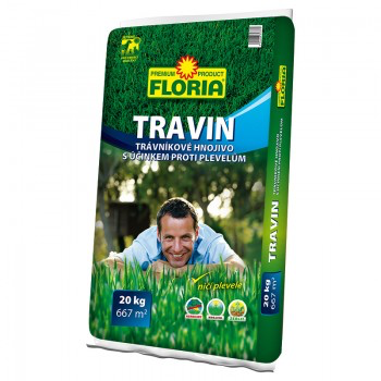 Trávníkové hnojivo proti plevelům, Floria TRAVIN, balení 20 kg-3301