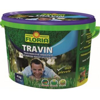 Trávníkové hnojivo proti plevelům, Floria TRAVIN, balení 4 kg