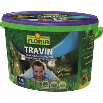 Trávníkové hnojivo proti plevelům, Floria TRAVIN, balení 8 kg
