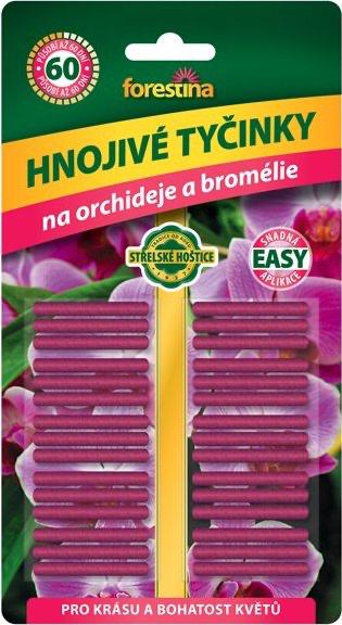 Tyčinkové hnojivo pro ORCHIDEJE a BROMÉLIE, Forestina, balení 30 ks-3386