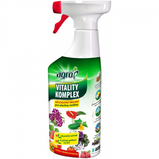 Univerzální urychlovač hnojení ve spreji, Agro Vitality komplex, balení 500 ml-3120