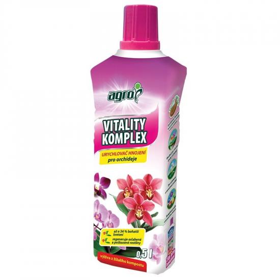 Urychlovač hnojení pro ORCHIDEJE, Agro Vitality Komplex, balení 500 ml-3122