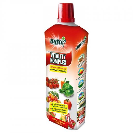 Urychlovač hnojení pro RAJČATA a PAPRIKY, Agro Vitality Komplex, balení 1 l