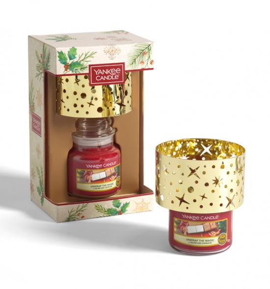 Vánoční dárková sada, Aromatická svíčka Yankee Candle 1 ks, Malé stínítko, hoření až 30 hod-4908