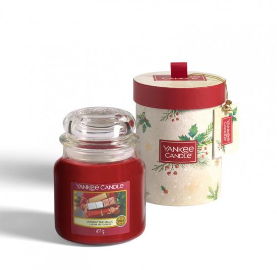 Vánoční dárková sada, Aromatická svíčka Yankee Candle 1 ks, Unwrap, hoření až 75 hod-4910