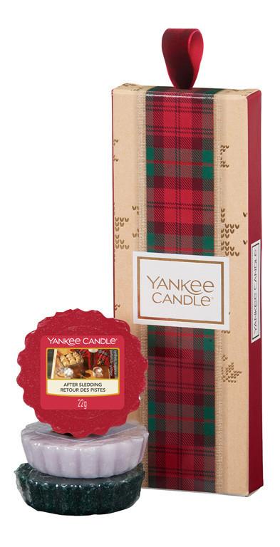 Vánoční dárková sada, Aromatické vosky Yankee Candle 3 ks, provonění až 3 x 8 hod
