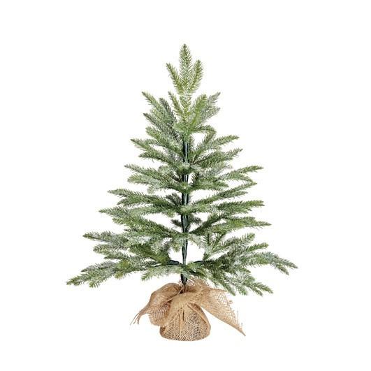Vánoční stromek umělý v jutě, zasněžený, výška 60cm-3736