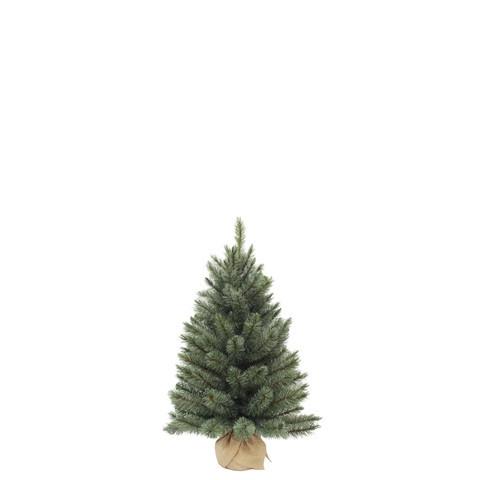 Vánoční stromek umělý v jutě, zelenomodrý, výška 45cm-3743
