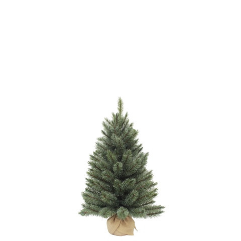 Vánoční stromek umělý v jutě, zelenomodrý, výška 60cm-3744