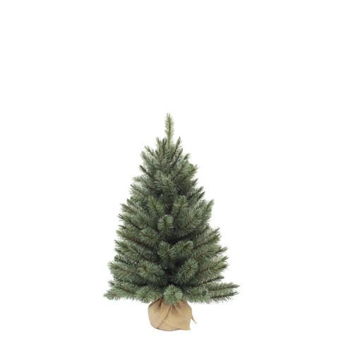 Vánoční stromek umělý v jutě, zelenomodrý, výška 90cm-3745