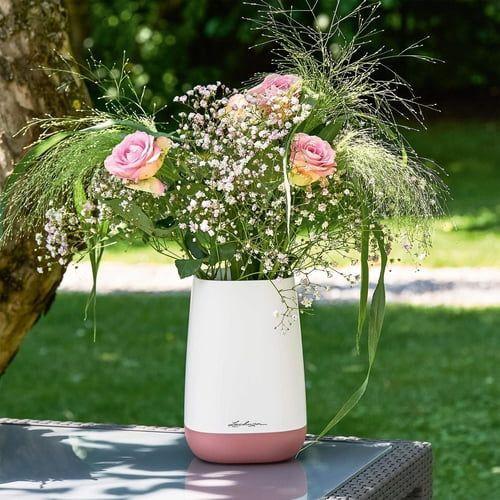 Váza Lechuza YULA Flower 14, bílo-růžová-6081