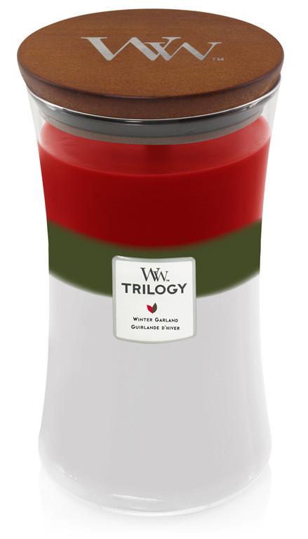 WW TRILOGY svíčka sklo3 Winter Garland-413