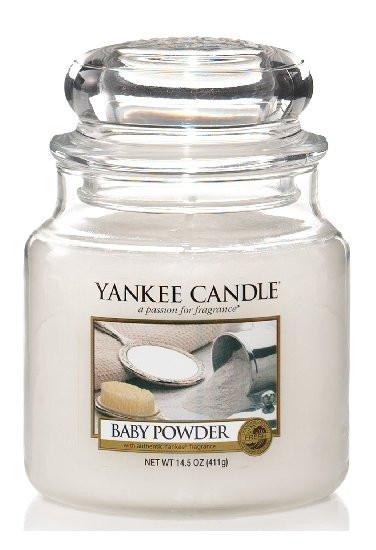 Yankee Candle svíčka classic střední Baby Powder-537