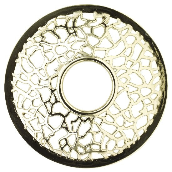 YANKEE prstenec na svíčku Matrix Brushed Silver-258