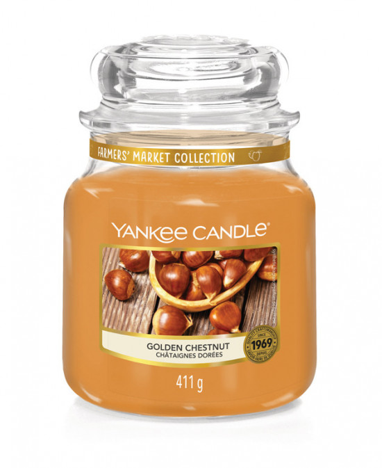 YANKEE svíčka sklo2 Golden Chestnut-984
