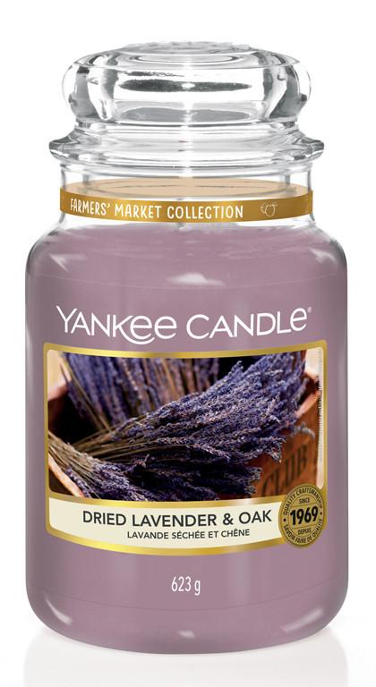 YANKEE svíčka sklo3 Dried Lavender & Oak-975