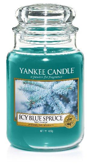 YANKEE svíčka sklo3 Icy Blue Spruce-454