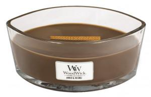 Aromatická svíčka loď, WoodWick Amber & Incense, hoření až 40 hod