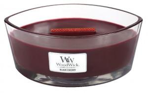 Aromatická svíčka loď, WoodWick Black Cherry, hoření až 40 hod