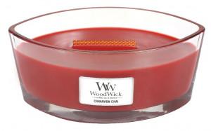 Aromatická svíčka loď, WoodWick Cinnamon Chai, hoření až 40 hod