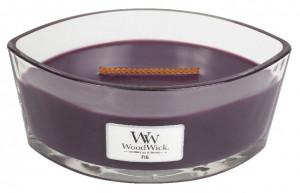 Aromatická svíčka loď, WoodWick Fig, hoření až 40 hod