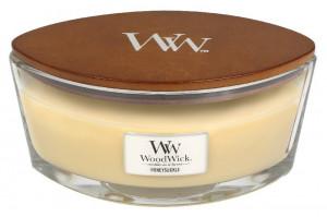 Aromatická svíčka loď, WoodWick Honeysuckle, hoření až 40 hod