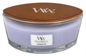 Aromatická svíčka loď, WoodWick Lavender Spa, hoření až 40 hod