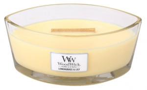 Aromatická svíčka loď, WoodWick Lemongrass & Lily, hoření až 40 hod