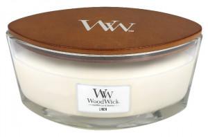 Aromatická svíčka loď, WoodWick Linen, hoření až 40 hod