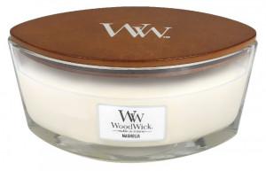 Aromatická svíčka loď, WoodWick Magnolia, hoření až 40 hod