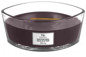 Aromatická svíčka loď, WoodWick Plum Cognac, hoření až 40 hod