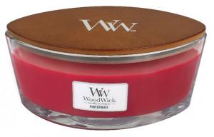 Aromatická svíčka loď, WoodWick Pomegranate, hoření až 40 hod