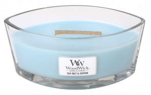Aromatická svíčka loď, WoodWick Sea Salt & Cotton, hoření až 40 hod