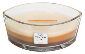 Aromatická svíčka loď, WoodWick Trilogy Café Sweets , hoření až 40 hod