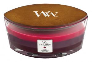 Aromatická svíčka loď, WoodWick Trilogy Sun Ripened Berries, hoření až 40 hod