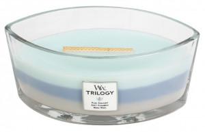 Aromatická svíčka loď, WoodWick Trilogy Woven Comforts, hoření až 40 hod