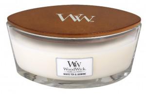 Aromatická svíčka loď, WoodWick White Tea & Jasmine, hoření až 40 hod