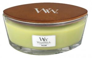 Aromatická svíčka loď, WoodWick Willow, hoření až 40 hod