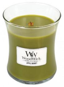 Aromatická svíčka váza, WoodWick Apple Basket, hoření až 65 hod