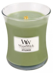 Aromatická svíčka váza, WoodWick Applewood, hoření až 65 hod